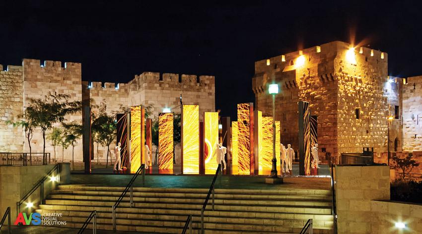 מתוך פסטיבל האור 2019 (צילום: פסטיבל האורשביל אור עבודה של avs ישראל)