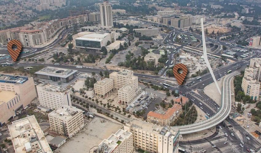 אזור הכניסה לעיר שייחסם לתנועת רכבים (צילום: דוברות העירייה)