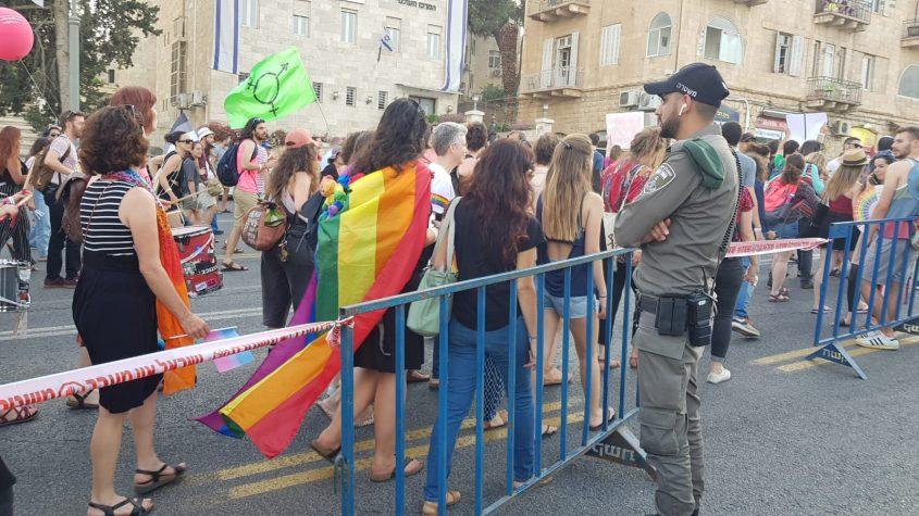 מצעד הגאווה בירושלים 2019 (צילום: דוברות המשטרה)