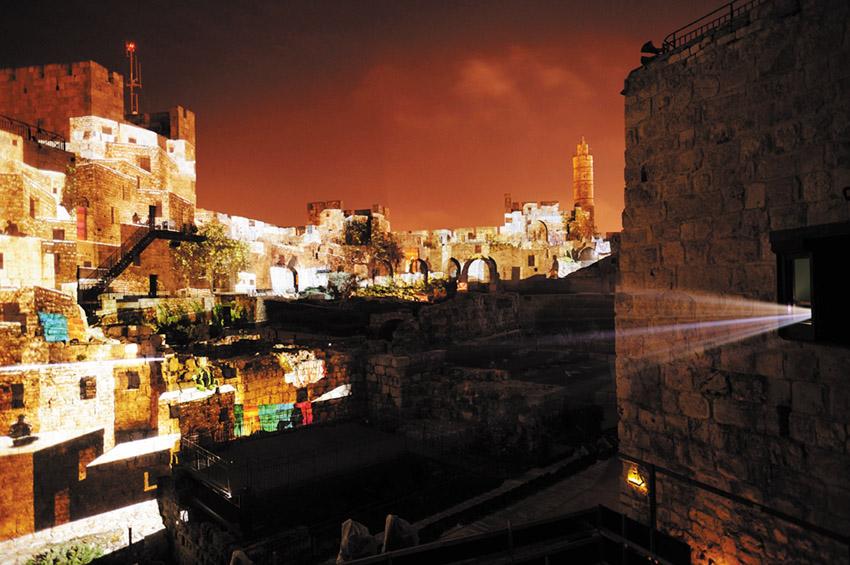 החיזיון הלילי במוזיאון מגדל דוד (צילום: נפתלי הילגר)