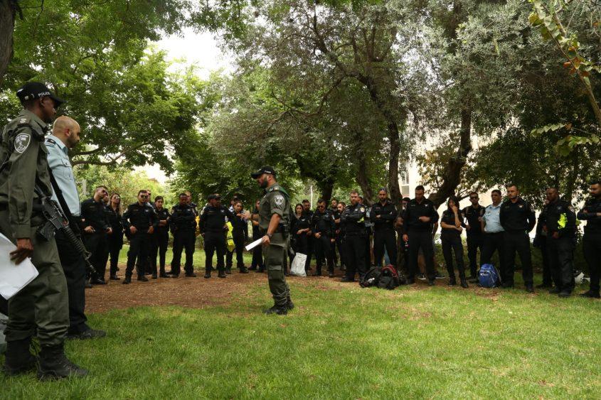 כוננות כוחות המשטרה - מצעד הגאווה בירושלים 2019 (צילום: דוברות המשטרה)