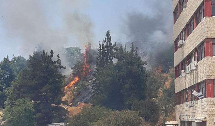 שריפה בחניון בגבעת שאול (צילום: פרטי)