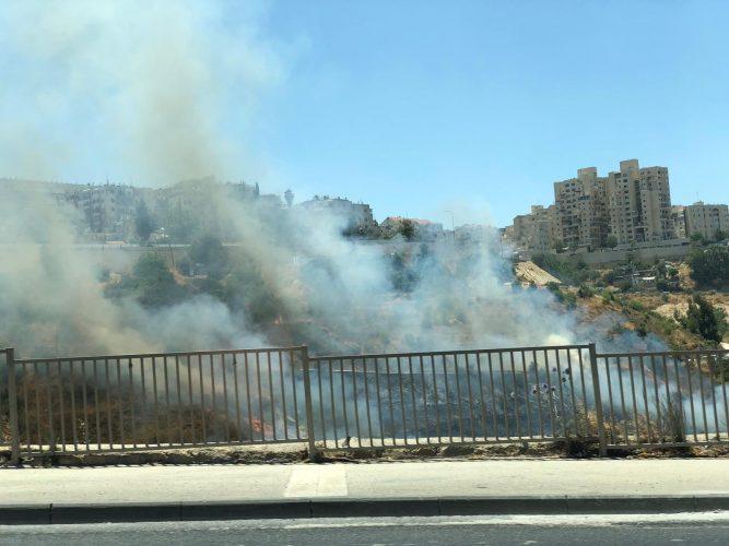 שריפה בליפתא (צילום: דוברות כבאות והצלה ירושלים)