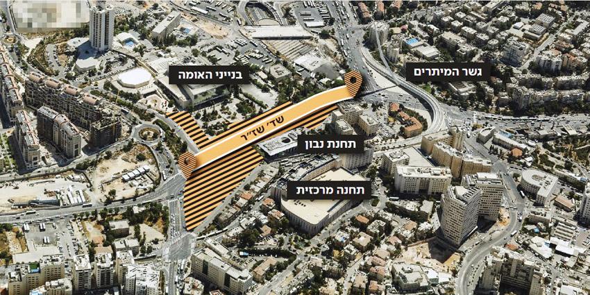הכניסה לירושלים (הדמיה: צוות תוכנית אב לתחבורה ירושלים)