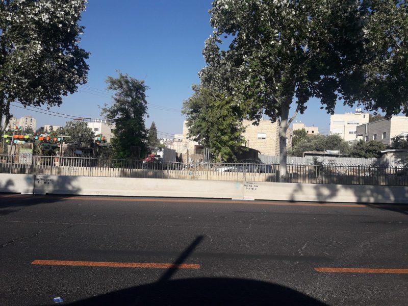 עבודות הרכבת הקלה בדרך דב יוסף