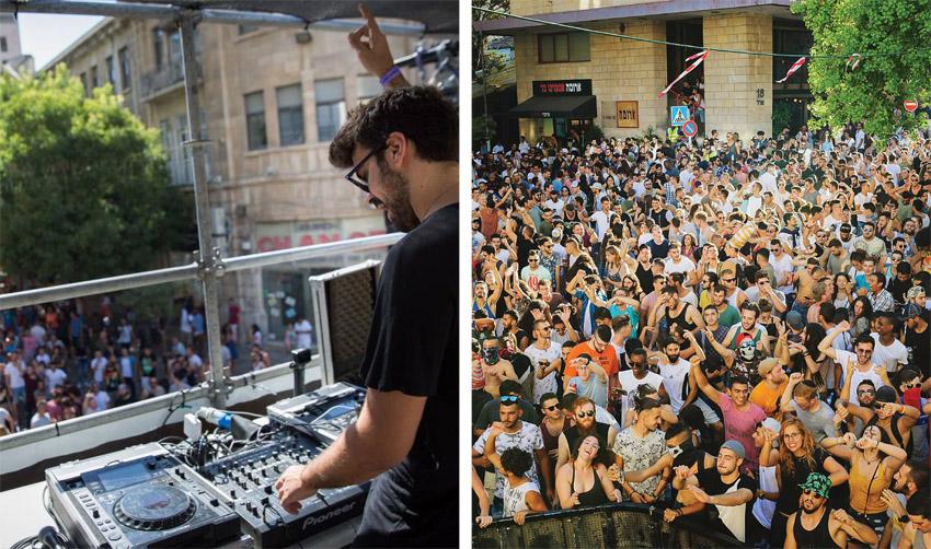 מסיבות הרחוב בירושלים בשנים שעברו (צילומים: דף הפייסבוק של FRONT STAGE)