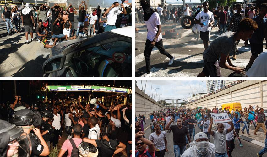 מחאת בני העדה האתיופית (צילומים: אמיר לוי, רמי שלוש, תומר אפלבאום)