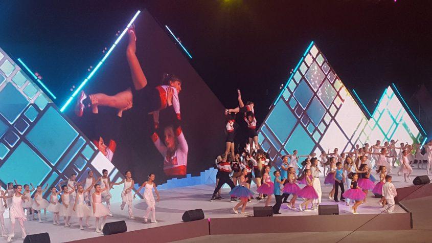טקס הפתיחה המרהיב של אולימפיאדת הילדים (צילום: רותי זינדל-אוכמן)