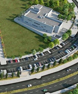 """הדמיית המתנ""""ס החדש בהר חומה (צילום הדמיה: אדריכל בני מוסקוביץ)"""