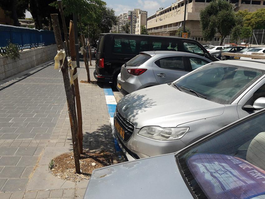 חניה בכחול לבן בירושלים