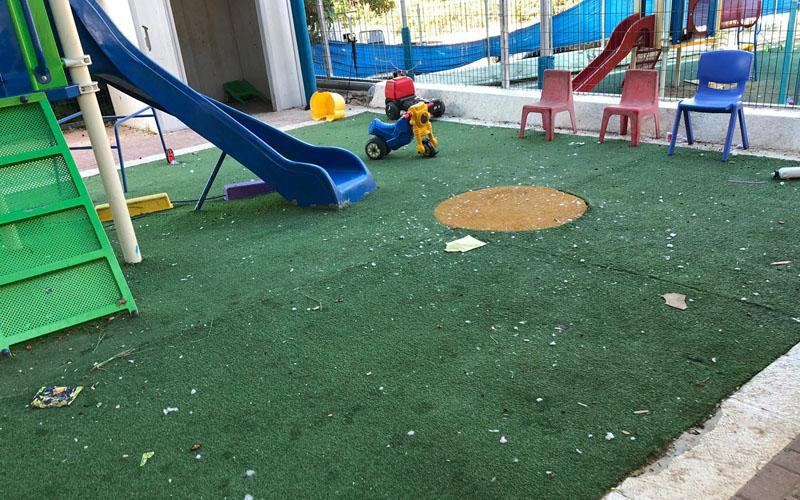 חצר המשחקים בגן לוריא (צילום: נינה בן עמי)