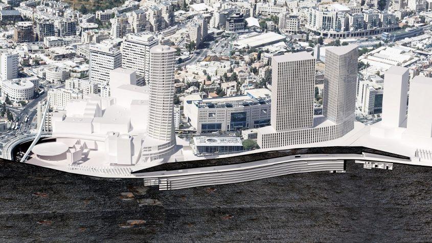 הדמיה של שני המגדלים בכניסה לעיר (הדמיה: הדמיה של שני המגדלים בכניסה לעיר (הדמיה: באדיבות פרויקט הכניסה לעיר)