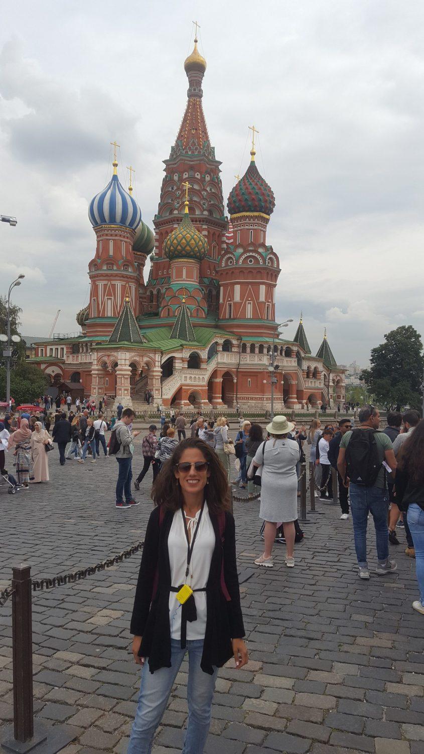 רותי זינדל-אוכמן ברוסיה (צילום: באדיבות רותי זינדל-אוכמן)