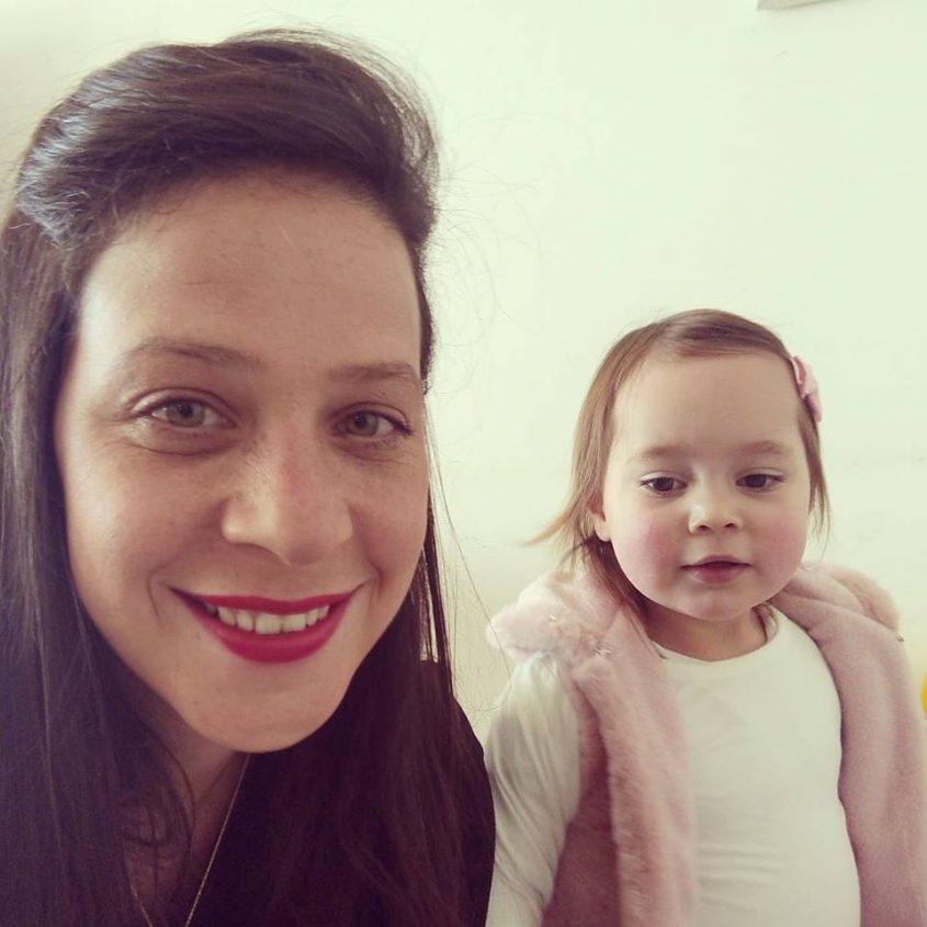 עינב בר כהן ובתה יובל (צילום: פרטי)