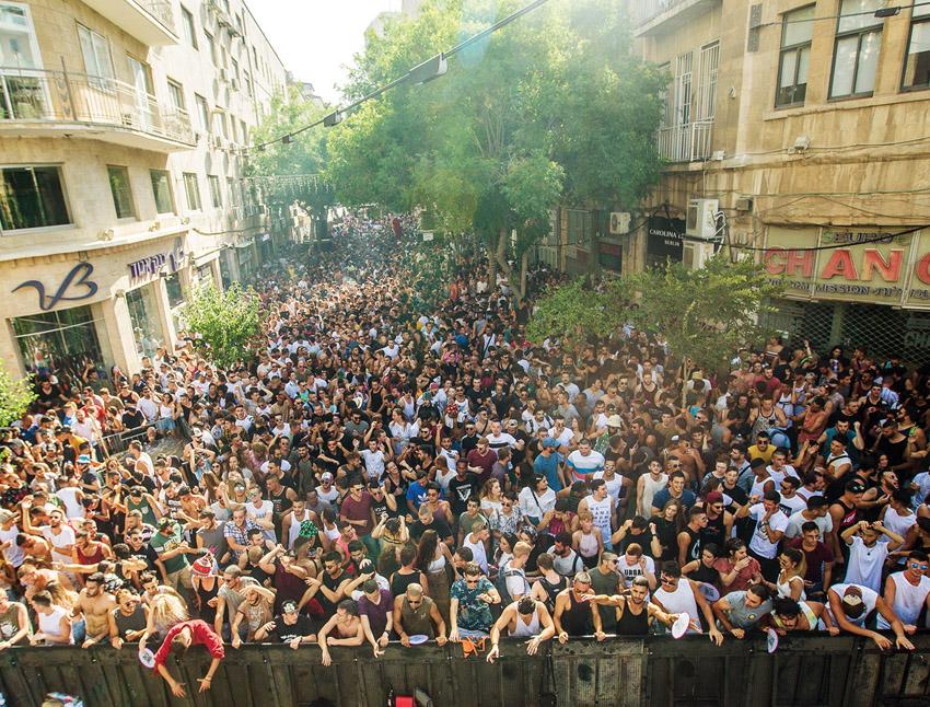 מסיבת הרחוב של FRONT STAGE לפני שבועיים (צילום:Katarin Savina)