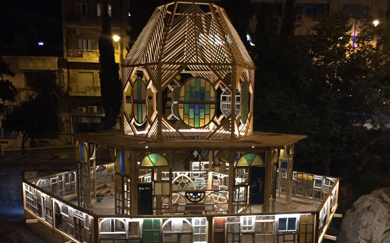 מיצג 'חלונות מתגשמים' בגן הסוס (צילום: רחלי ריף)