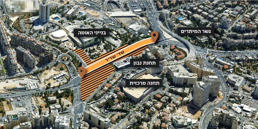 הכניסה לעיר (הדמיה: צוות תוכנית אב לתחבורה ירושלים)