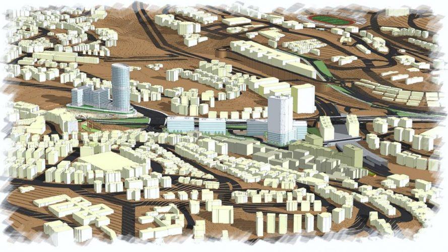 מתחם תעסוקה בעמק ציון (הדמיה: משרד אדריכלים ארי כהן)