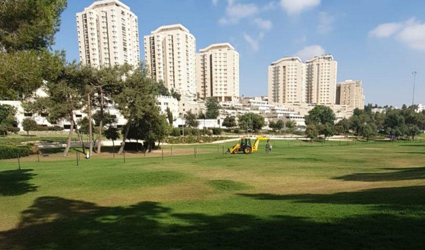 העבודות בגן סאקר (דוברות: עיריית ירושלים)