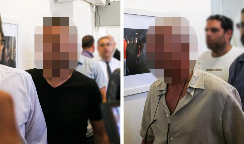 2 מהחשודים בהארכת המעצר, השבוע בבית משפט השלום (צילומים: אורן בן-חקון)