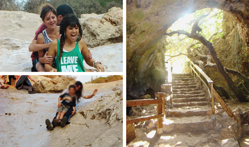 """מערת התאומים, מתקני השעשועים לילדים בסמוך למערה (צילומים: ד""""ר ענת אביטל, מנכ""""לית 'מטיילים עם ענת')"""