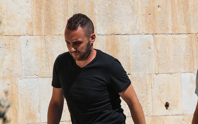 דני כץ בדיון הארכת המעצר בבית משפט השלום בשבוע שעבר (צילום: אורן בן חקון)