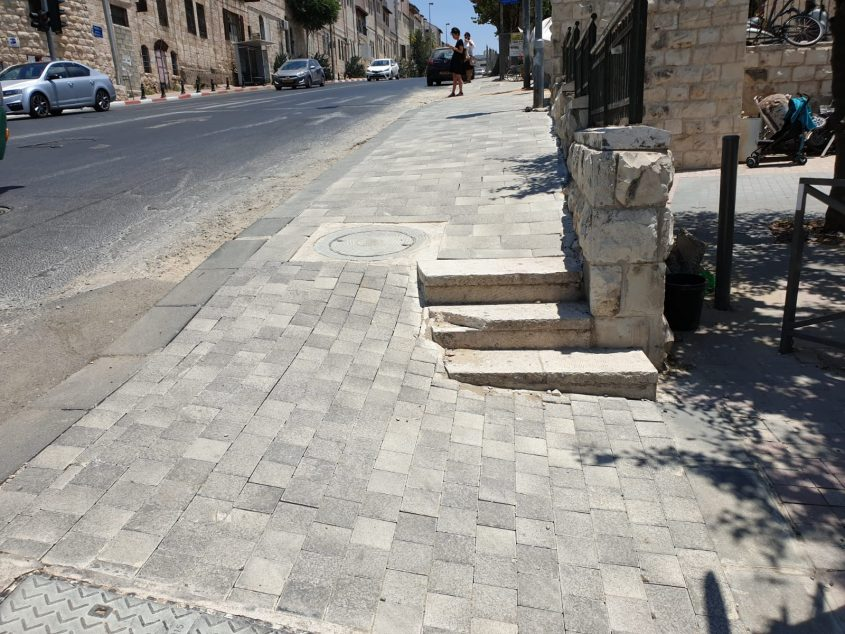 רחוב בצלאל (צילום: קבוצת הפייסבוק ירושלים בעיות פיתוח)