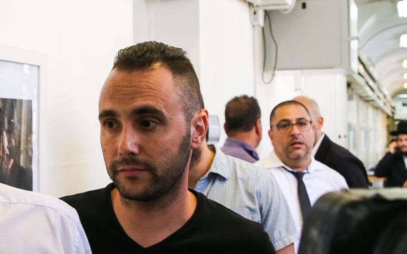 דני כץ, בדיון ההארכת המעצר בבית משפט השלום בשבוע שעבר (צילום: אורן בן חקון)