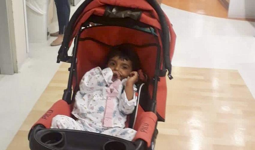 בת ה-3 שהוכשה על ידי נחש ארסי, בהדסה (צילום: דוברות הדסה)