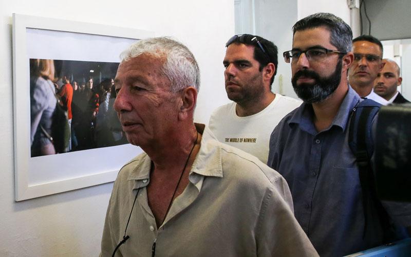 """ציון תורג'מן, מנכ""""ל חברת אריאל, בדיון הארכת המעצר בשבוע שעבר (צילום: אורן בן חקון)"""