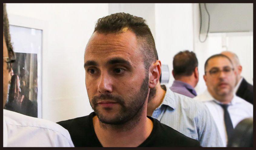 """דני כץ ז""""ל, בדיון הארכת המעצר בבית משפט השלום בשבוע שעבר (צילום: אורן בן חקון)"""