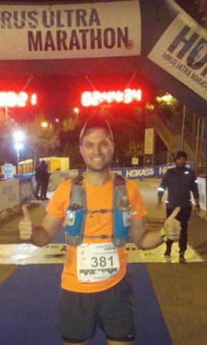 שלמה המר בתחרות אולטרה מרתון בהרי ירושלים (היירוס) (צילום: נפתלי המר)