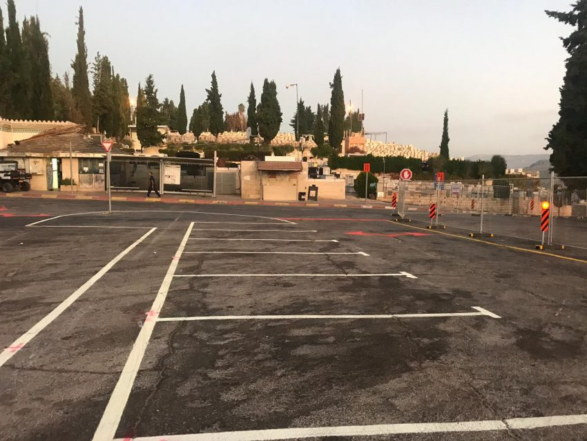 העבודות בבית העלמין בגבעת שאול (צילום: באדיבות עיריית ירושלים, המחלקה למבני דת)