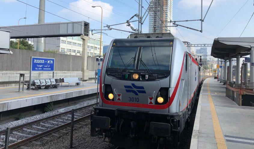 """נסיעת הרכבת הראשונה מת""""א לירושלים (צילום: דוברות רכבת ישראל)"""
