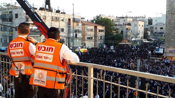 עצרת הבחירות של יהדות התורה בירושלים (צילום: יוסף גבאי - תיעוד מבצעי איחוד הצלה)