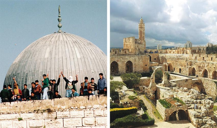 מוזיאון מגדל דוד, מתוך התערוכה 'ההר - מסע מצולם אל הר הבית' (צילומים: חמוטל וכטל, יוסי זמיר, פלאש 90)