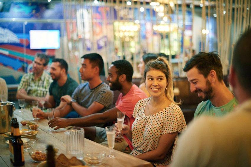 סדנת בירה בפוסט הוסטל (צילום: יעל הרמן)