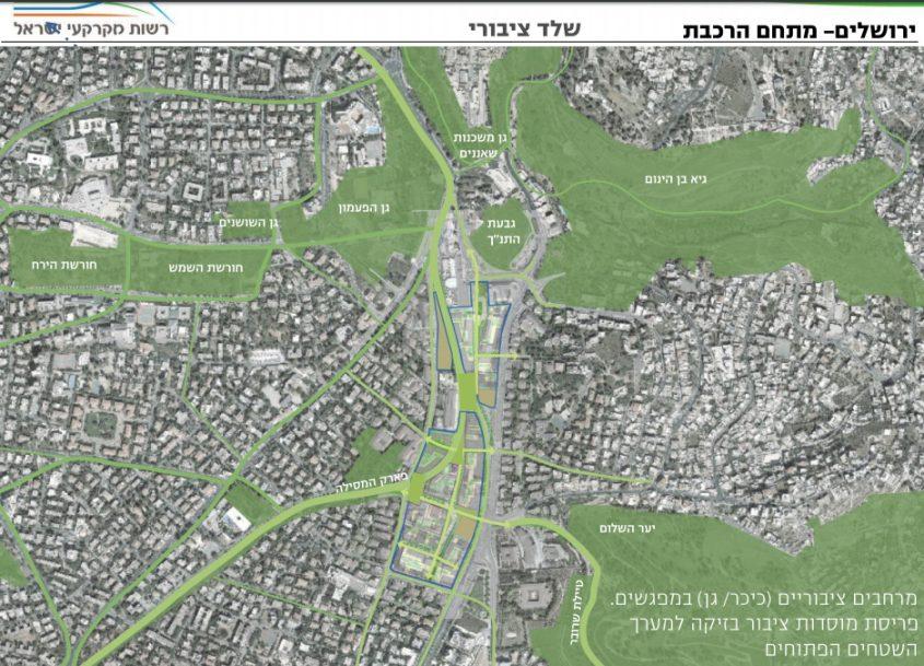 תוכנית האב למתחם התחנה (צילום: מתוך התוכנית שהוגשה לוועדה המחוזית)
