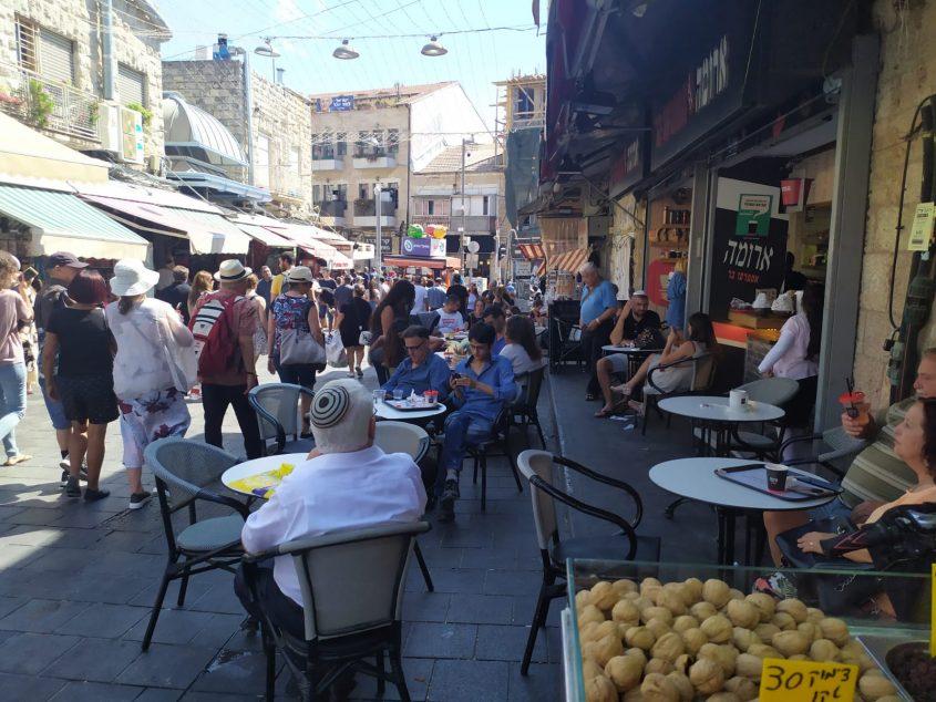 שוק מחנה יהודה - יום הבחירות, 17.9.19 (צילום: שלומי הלר)