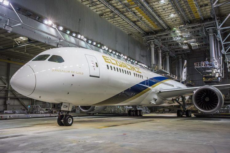 """מטוס החדש של אל-על - """"ירושלים של זהב"""" (צילום: Jim Anderson D. J. & Company)"""