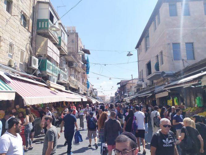 שוקמחנה יהודה - יום הבחירות, 17.9.19 (צילום: שלומי הלר)