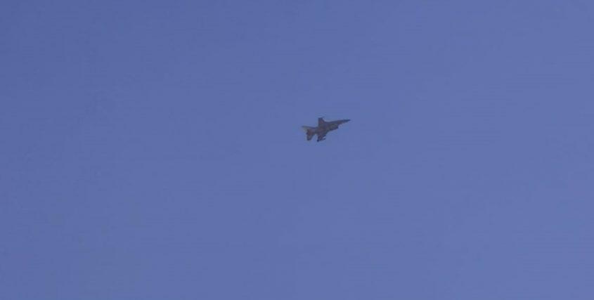 מטוס קרב בשמי ירושלים (צילום: פרטי)