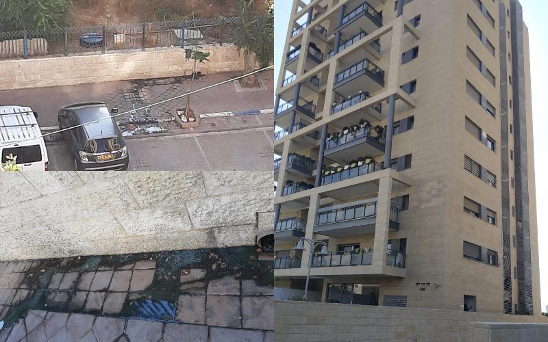 מפגע הביוב בדרך בית לחם (צילומים: פרטי)