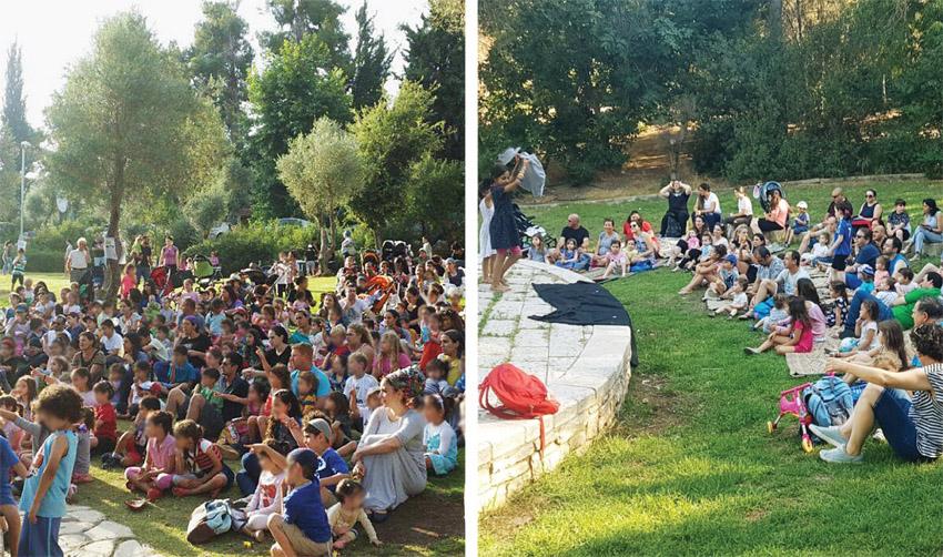 פעילויות שבת למשפחות של העירייה ושל התנועה הירושלמית (צילומים: ברל'ה, פרטי)