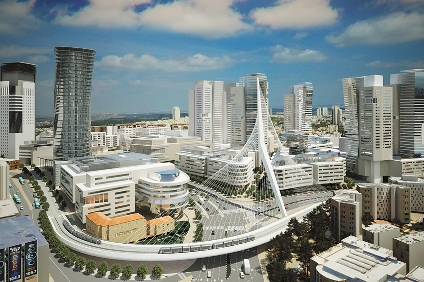 הדמייה פרויקט הכניסה לעיר (הדמיה: דגן פתרונות ויזואלים מתקדמים)
