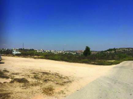 השטח שבו מתוכנן להיבנות בית הקברות במבשרת ציון