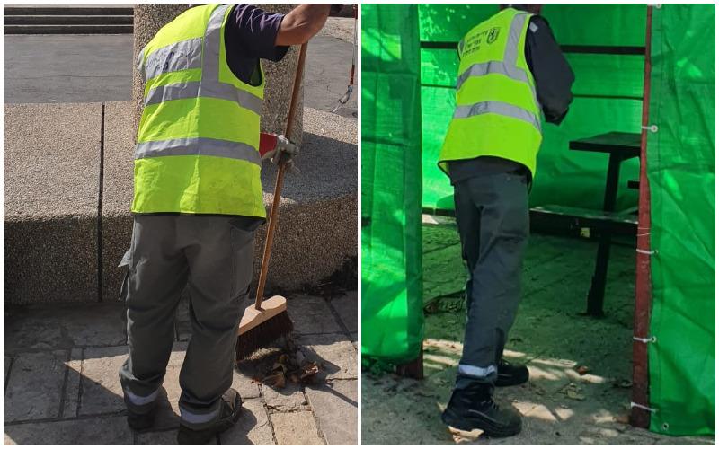 עובדי אגף התברואה - למצולמים אין קשר לכתבה (צילומים: דוברות עיריית ירושלים)
