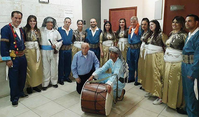 להקת נגינה ומחול של יוצאי כורדיסטן (צילום: באדיבות עיריית מעלה אדומים)