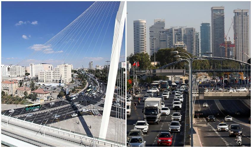 תל אביב, ירושלים (צילומים: רויטרס CORINNA KERN, אורן בן-חקון)