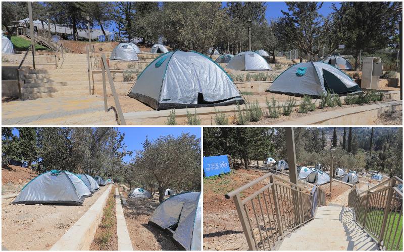 מתחם קמפינג עיר דוד - צילומים קובי הראתי